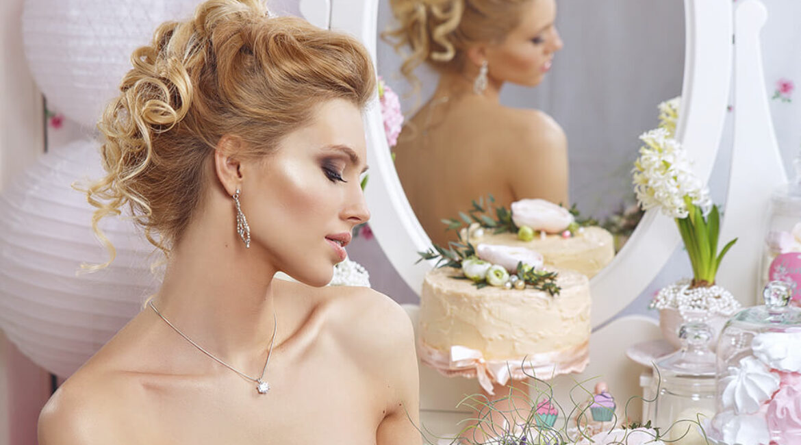 Why not complicate the hair for the wedding
